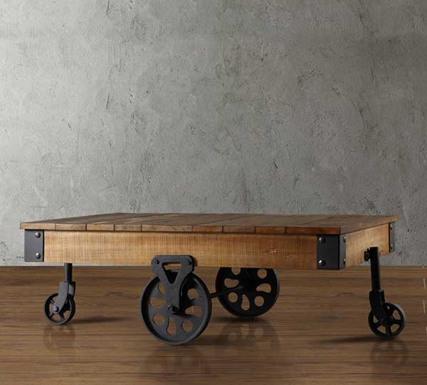 Factory Coffee Table Cart