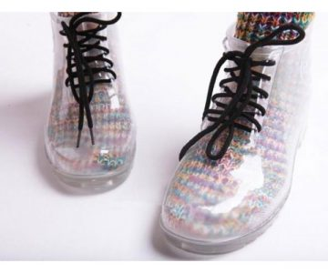 Womens Transparent Rain Boots