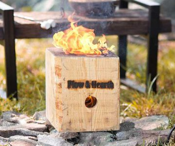 BlazingBlock Portable Outdoor Wood Bonfire