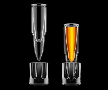 Bullet Shot Glass With Holder