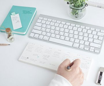 Keyboard Memo-pad Weekly Planner