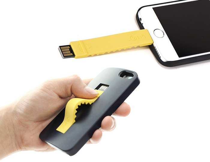 iPhone 6 Case with built in Lightning cable