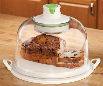 Auto-Vacuum Smart Food Dome and Cake Plate