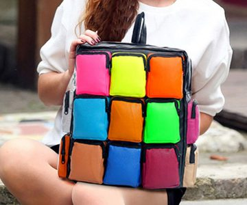 Colorful Rubik's Cube Bag