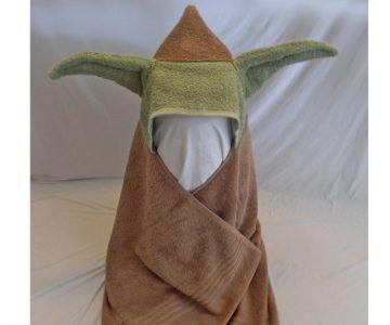 Yoda Inspired Hooded Bath Towel