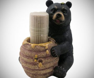 Bear Beehive Honey Pot Toothpick Holder