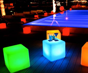 Smart & Green Cordless LED Cube Lamp