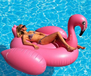 Giant Flamingo Inflatable Pool Float Toy