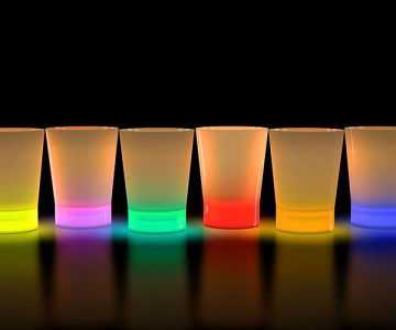 Glow In The Dark Shot Glasses