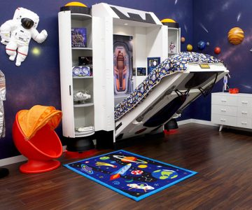 Spaceship Bed Astronaut Theme Room