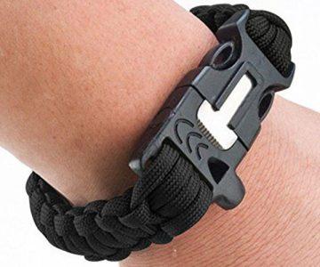 Survival Paracord Bracelet with Flint Fire Starter