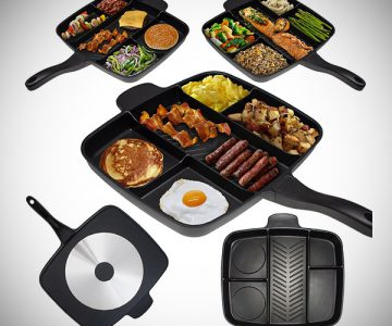 5-Section Nonstick Divider Frying Pan