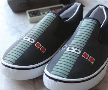 NES Nintendo Controller Canvas Shoes