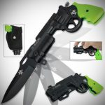 Zombie Killer Pistol Revolver Pocket Knife