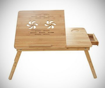 Bamboo Portable Laptop Desk Table