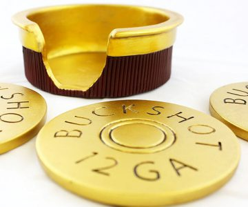 Buckshot Shotgun Shell Coasters