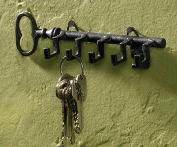 Key Shaped Key Holder