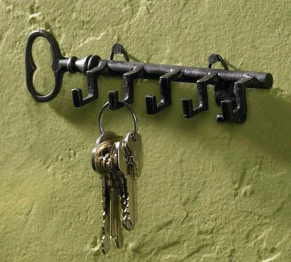 Key Shaped Key Holder