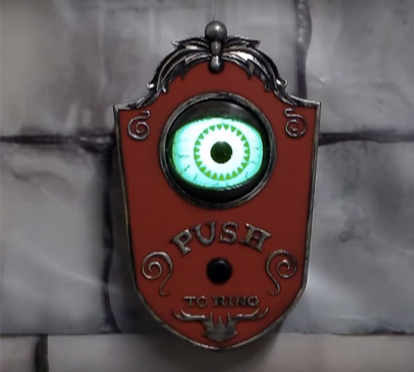 Decorating Ideas > Light Up Talking Eyeball Doorbell  COOLSHiTiBUY ~ 084113_Halloween Doorbell Sounds