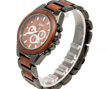 Mens Rosewood Wrist Watch