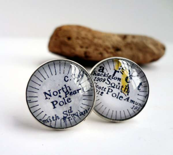 North & South Pole Mens Cufflinks