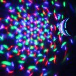 Rotating LED Disco Light Bulb