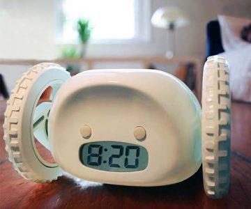 Runaway Alarm Clock on Wheels