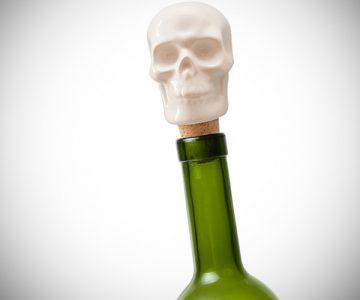 Skull Porcelain Wine Bottle Stopper
