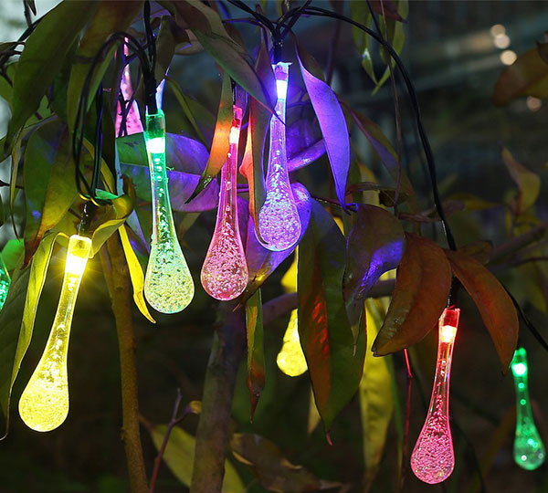 Solar Icicle Ball String Lights