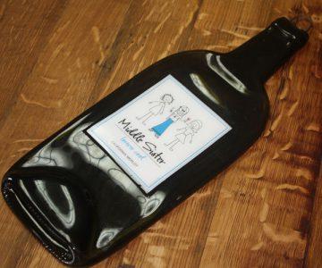 Wine Bottle Cheese Board