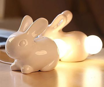 Bunny Lamp and Money Piggy Bank