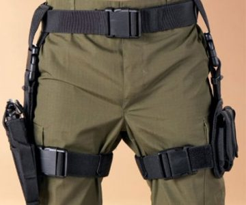 Tactical Holster with Mag Pouches