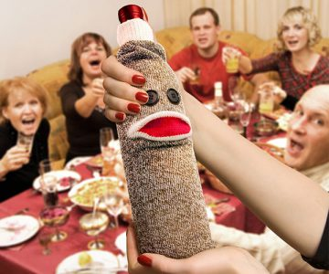 Wine Monkey Sock Bottle Caddy