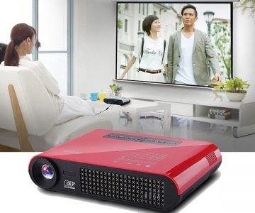 4k DLP Mini Portable Home Theater Projector