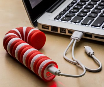 Candy Cane Shaped Power Bank