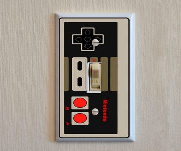 NES Controller Light Switch Plate