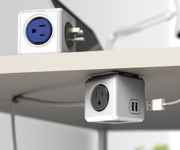 PowerCube Modular 4 Outlet & USB Plug