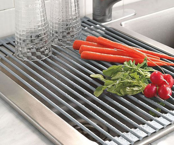 Roll Up Dish and Vegetables Drying Rack