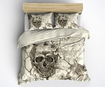 Skull Bedding Duvet Cover