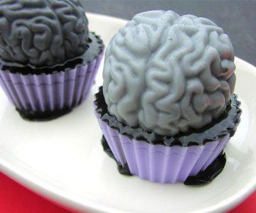 Zombie Brain Soap Cupcake