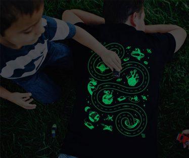 Glow in the Dark Racing Space Play Mat Tshirt