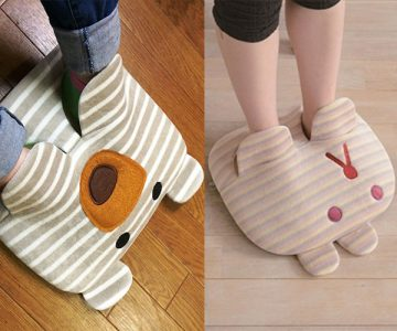 Rabbit and Bear Wild Foot Warmers