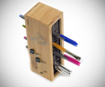 Pen Zen Bamboo Desk Organizer