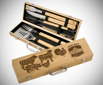 5 Piece Bamboo BBQ Grill Set