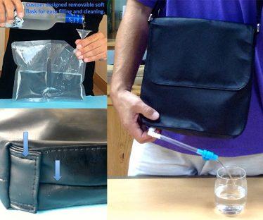 Bev-Satch Secret Messenger Bag Flask