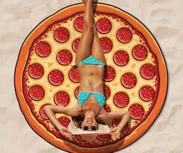Gigantic Pizza Beach Blanket