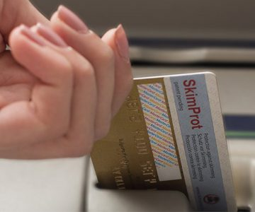 SkimProt Fraud and Data Protection Sticker for Bank Cards