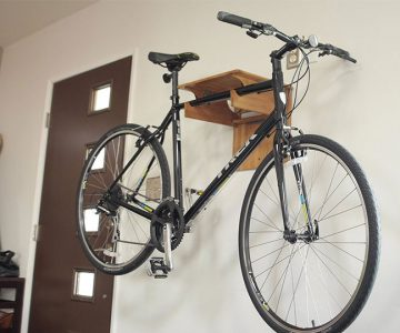Fold Away Bamboo Bike Rack