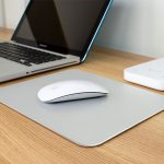 Aluminium Mouse Pad With Rubber Base