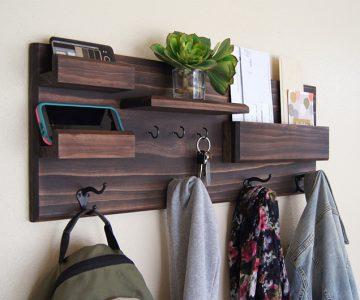 Coat Rack and Storage Organizer Shelf